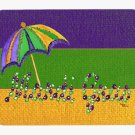 Mardi Gras Mardi Gras Bead with Umberella Mouse Pad Hot pad trivet 8381MP