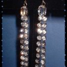 Rhinestone Chandelier Earrings Vintage 1950s Dangles