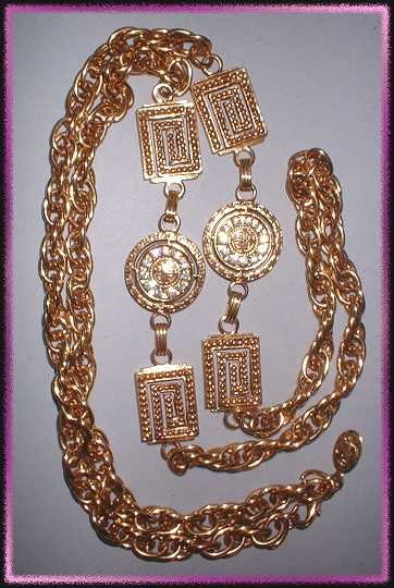 Gold Rhinestone Designer Necklace Premier Designs 9329