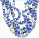 Murano Glass Necklace Montana Blue Millefiori 1950s 9512