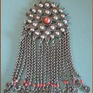 Rare Antique Ethnic Necklace Moroccan Silver Medallion 9479