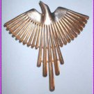 Vintage Bird Pin Signed JJ Gold and Silver Thunderbird 8417