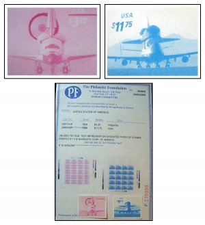 EXTREMELY RARE! 3261-3262 MNH/NGAI/S-G VAR TEST STAMPS CERTIFIED AUTHENTIC BY PHILATELIC FOUNDATION