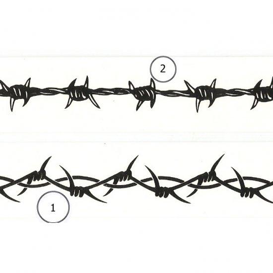 "6"" Barbed Wire Wrist Band Tattoo"