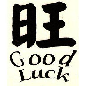 "1.5"" ""Good Luck"" Chinese Symbol Tattoo"
