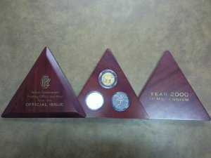 Italy Year 2000 III Millennium 3 Coin Set