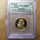 2000-S Sacagawea Dollar In An ICG Slab PR70DCAM