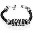 Braided Love Leather Bracelet