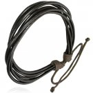 Genuine Brown Cords Leather Bracelet