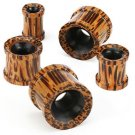 Pair 00 Gauges Wood Ear Tunnel Plugs