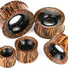 Pair  7/8 Gauges Wood Ear Tunnel Plugs