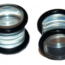 Pair of Clear Acrylic Saddle Plugs 00g