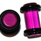 Pair Purple Acrylic Saddle Ear Plugs O-Rings 2Gauge 6mm