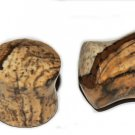 Pair Natural Facet Cut Jasper Saddle Stone 00 Ear Gauges 9mm