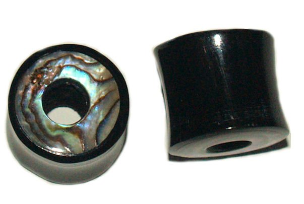 Organic Horn Saddle Tunnel Plugs 1/2 Gauge  12.7mm