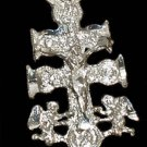 Sterling Silver Angels and Crucifix Pendant Charm