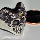 Sterling Silver Skull Ring Size 10