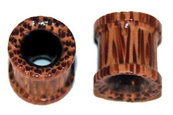 Pair Organic Coco Wood Ear Tunnel Plugs 00 Gauge 9mm
