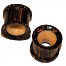 Pair of Coco Wood Ear Tunnel Plugs 7/16 Gauge,11.2mm