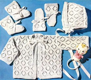 Baby Infant Knitting Patterns - Vintage Knitting Crochet Pattern Shop