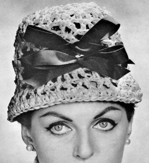 Vintage Crochet Cloche Hat PDF Pattern