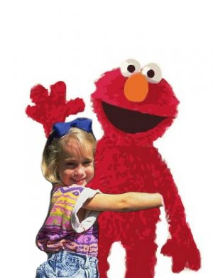 16x20 Customized Elmo Poster Featuring your child's picture on Vinyl