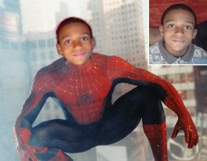 8x10 Customized SpiderMan Poster Featuring your child's picture