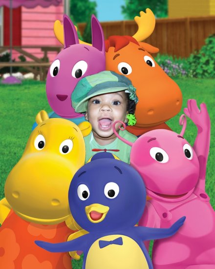 8x10 Customized Backyardigans Poster Featuring your child's picture