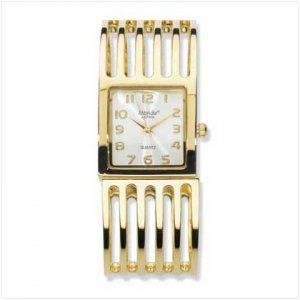 Gold Plated Bracelet Watch