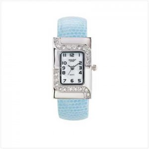 lady's Blue Cuff Watch