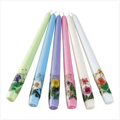 Floral Taper Candle Set