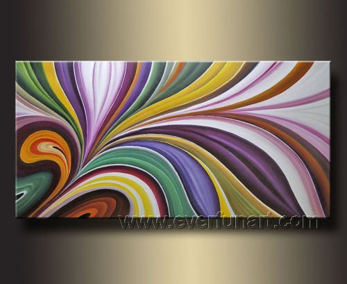 Framed! Modern Wall Decor Art Abstract Huge Oil Painting On Canvas