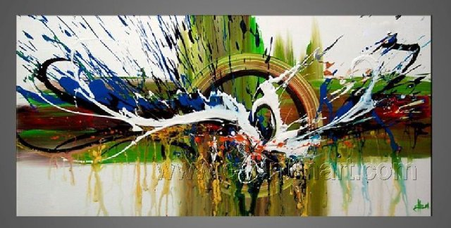 Good ! New Modern Abstract Huge Art Oil Painting on Canvas (+ Frame)  XD1-008