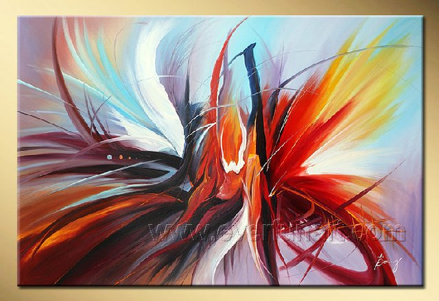 Good ! New Modern Abstract Huge Art Oil Painting on Canvas (+ Frame) XD1-026