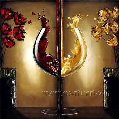 Huge Mordern Wine Art Wall Decor Canvas Oil Painting (+ Frame) XD2-038