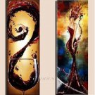 Huge Mordern Wine Art Wall Decor Canvas Oil Painting (+ Frame) XD2-039