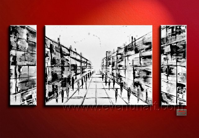 Huge Mordern Abstract Wall Decor Art Canvas Oil Painting (+ Frame) XD3-003