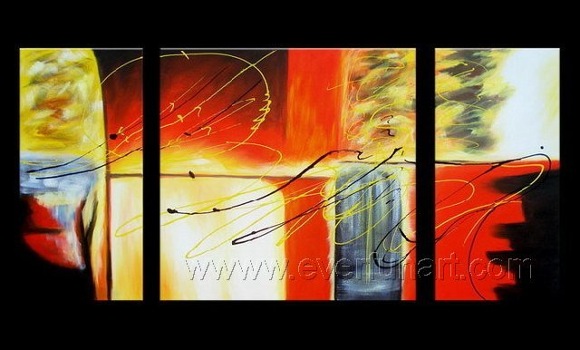 Good ! New Modern Abstract Huge Art Oil Painting on Canvas (+ Frame) XD3-039