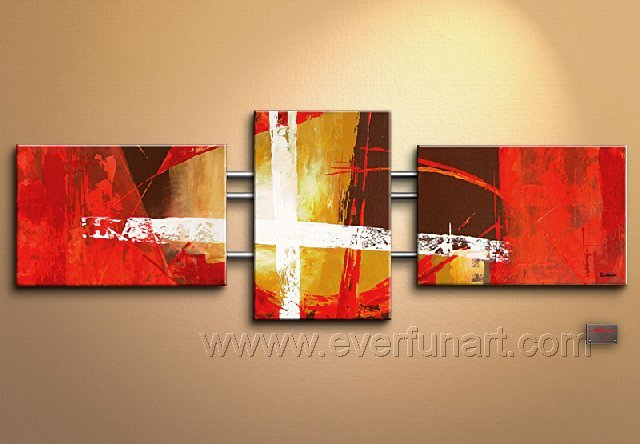 Good ! New Modern Abstract Huge Art Oil Painting on Canvas (+ Frame) XD3-048