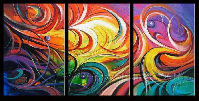 Good ! New Modern Abstract Huge Art Oil Painting on Canvas (+ Frame) XD3-116