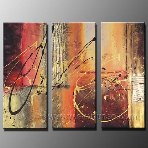 Good ! New Modern Abstract Huge Art Oil Painting on Canvas (+ Frame) XD3-192