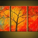Wake Up From The Sweet Dream!! Hot! Nice Landscape Oil Painting (+ Frame) LA3-002