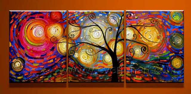 Tree Of Life ! ! Framed! Modern Wall Decor Art Landscape Huge Oil Painting On Canvas LA3-013