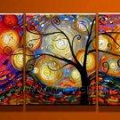 Tree Of Life ! ! Framed! Modern Wall Decor Art Landscape Huge Oil Painting On Canvas LA3-013