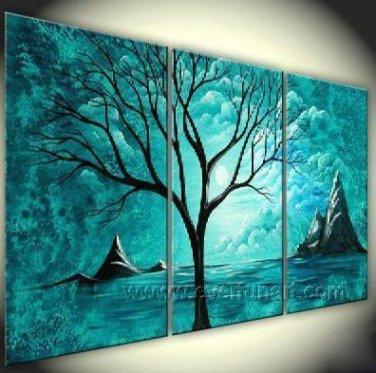 Old Tree Underneath The Stars ! Hot! Nice Landscape Oil Painting (+ Frame) LA3-043