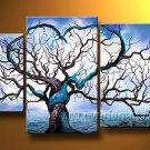 Never Be Alone! Nice Landscape Oil Painting (+ Frame) LA3-081