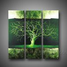 Green Tree ! Hot! Nice Landscape Oil Painting (+ Frame) LA3-104