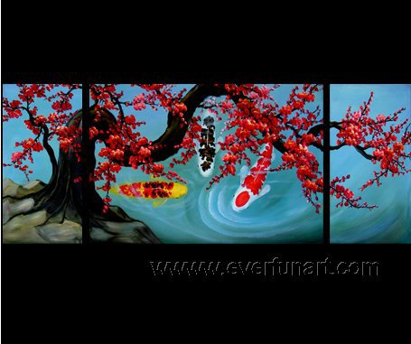 Gorgeous Oil Floral Painting on Canvas Asian Art (+Frame) FL3-020