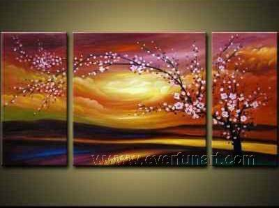 Gorgeous Oil Floral Painting on Canvas Very Pretty Flowers (+Frame) FL3-076