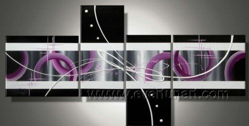 Handmade Abstract Oil Painting Modern Art Wall Decor Canvas Painting (+Frame)  XD4-005